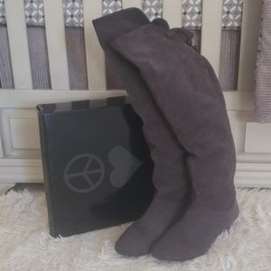 Steve Madden Suede Over the Knee Boot